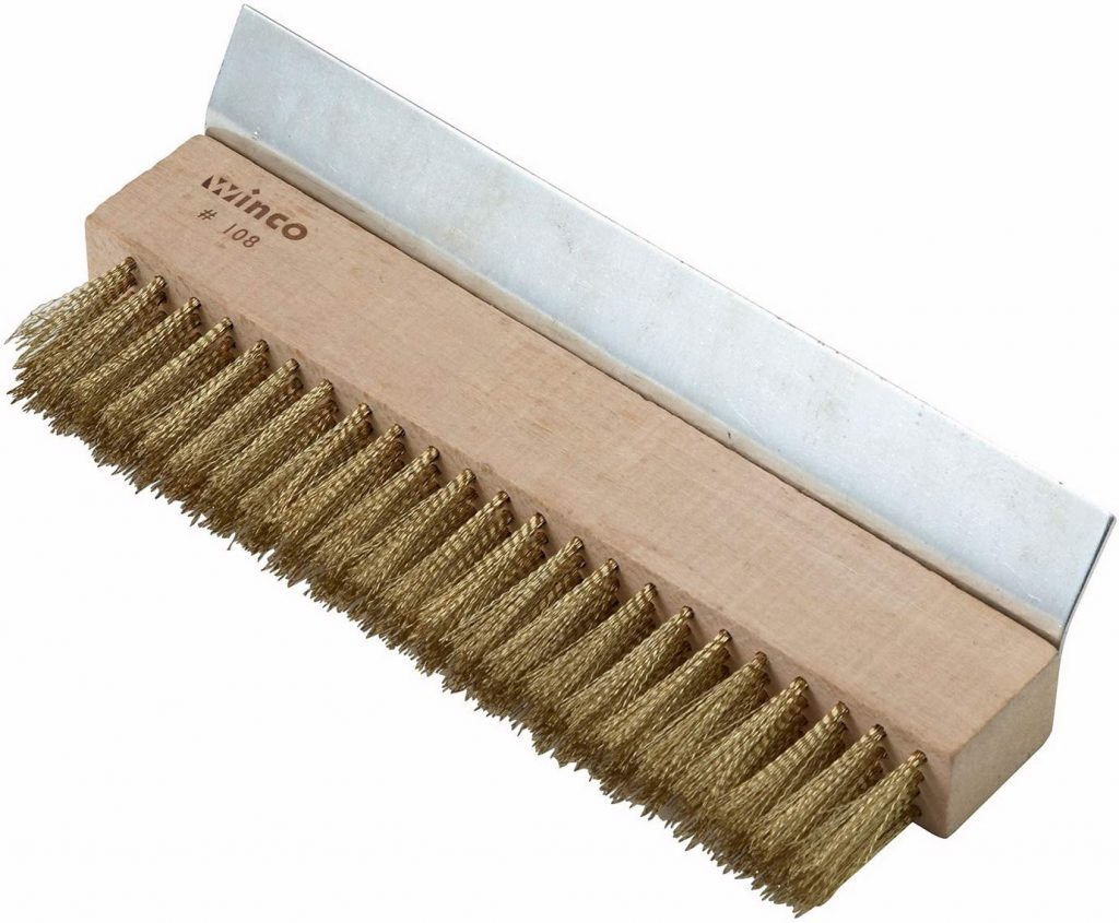Winco BR 10 brass wire oven brush - photo 1