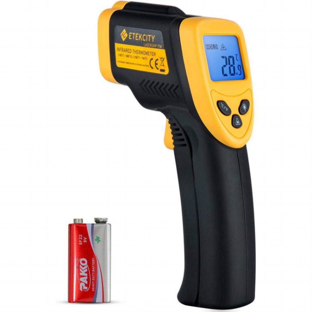 Etekcity lasergrip digital laser thermometer - photo 2