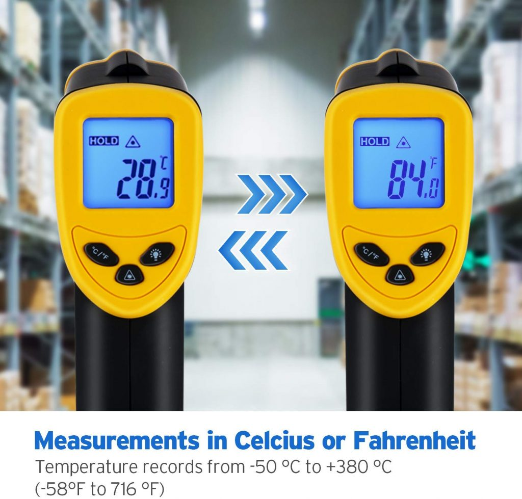 Etekcity lasergrip digital laser thermometer - photo 1