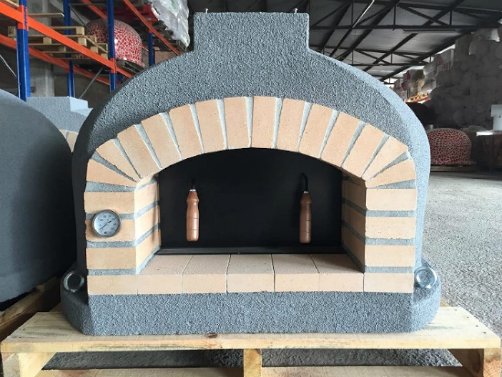 Outdoor-Pizza-Oven-Wood-Fired-Insulated-Brick-Arch-Chimney