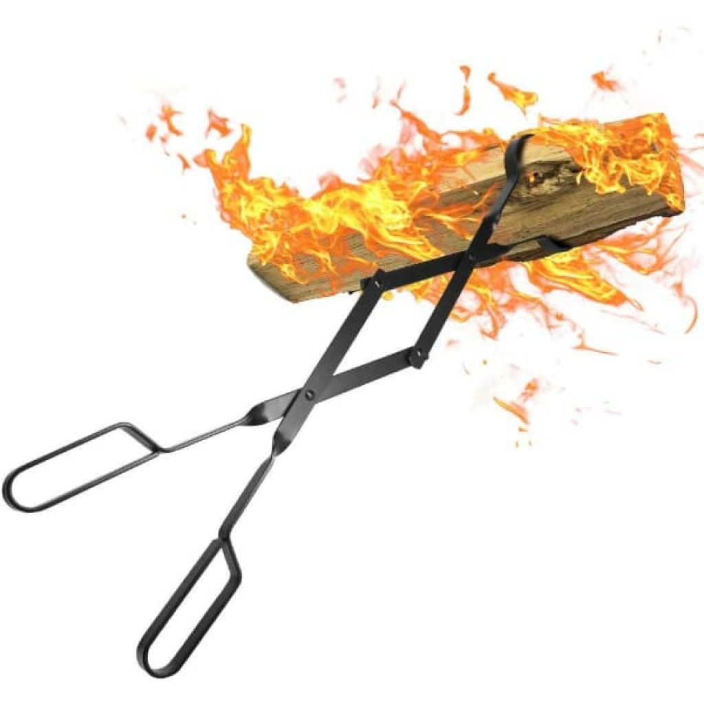 Amagabeli Fireplace Log Tongs 26 Heavy Duty Indoor Firewood Tongs