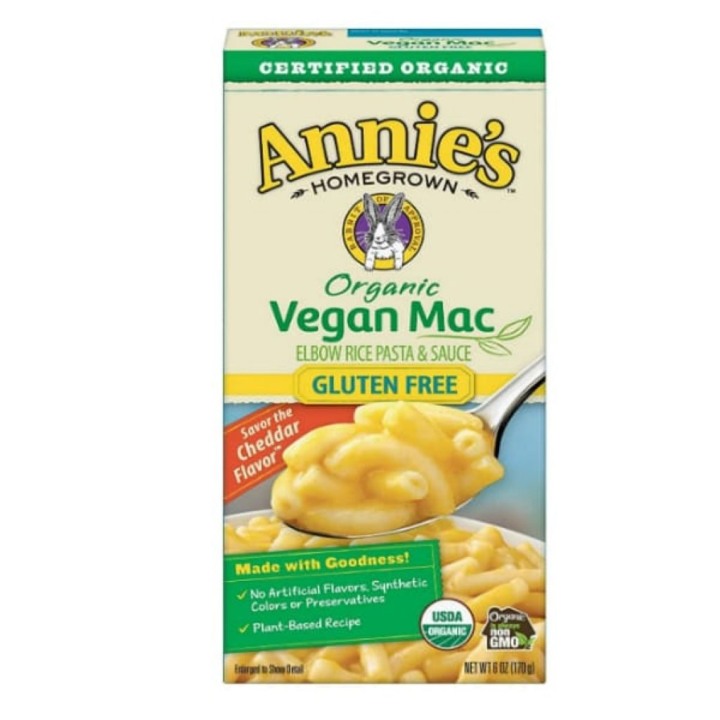Annie's Organic Vegan Gluten-Free Elbows & Creamy Sauce Macaroni & Cheese, 12 Boxes, 6oz (Pack of 12)