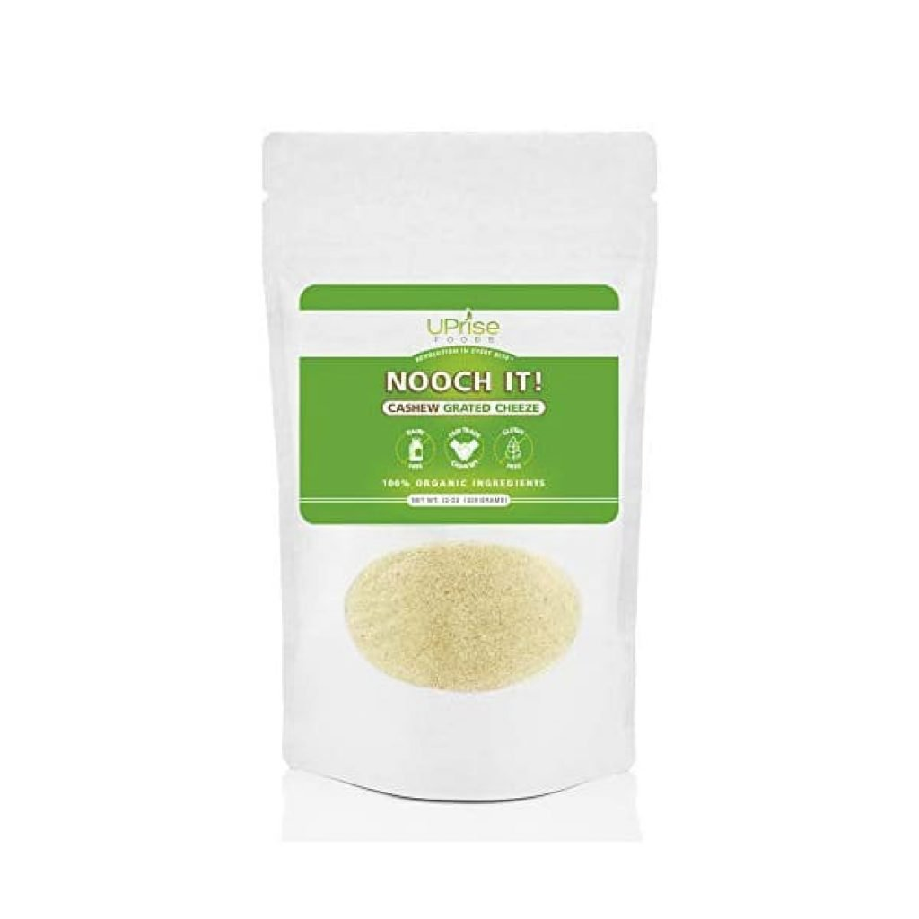 New NOOCH IT Organic Dairy-Free Cashew Grated Cheeze 12oz (Vegan Parm, Gluten-Free)