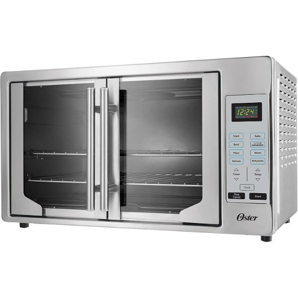 Oster French Convection Countertop and Toaster Oven Single Door Pull and Digital Controls Stainless Steel, Extra Large