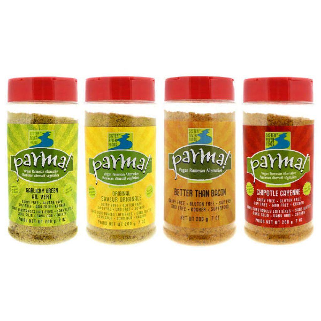 Parma! Vegan Parmesan - 4 Flavor Variety (7 ounces, Pack of 4)