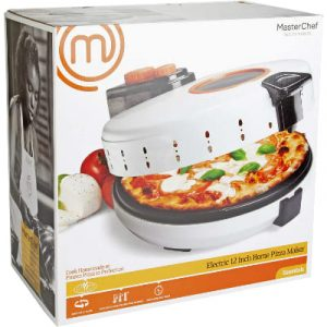 MasterChef Pizza Maker- Electric Rotating 12 Inch Non-stick Calzone Cooker