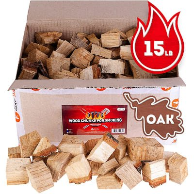 Oak smoker wood chunks