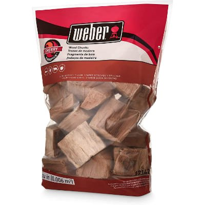 Weber 17142 Cherry Wood Chunks, 350 cu. in.