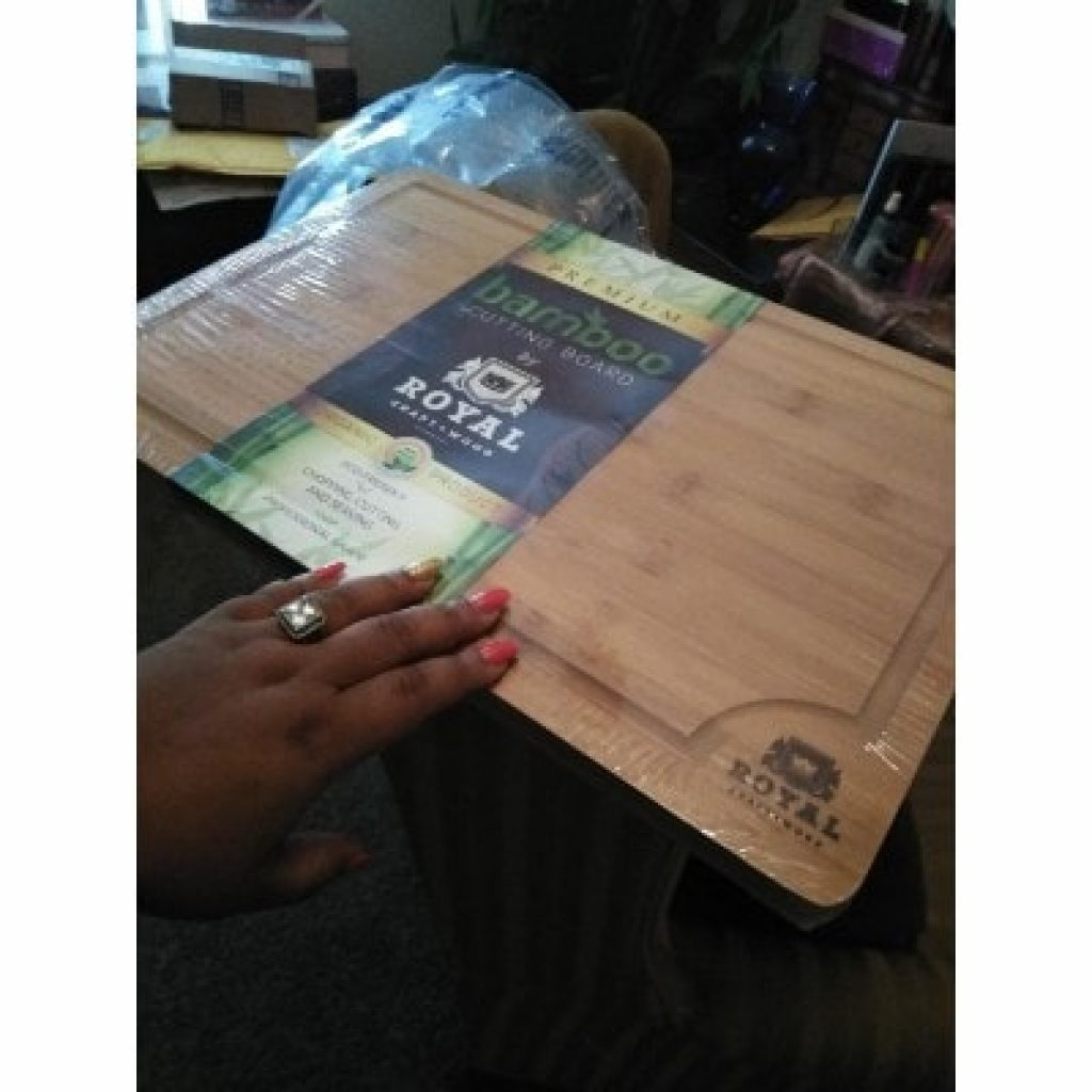 newly bought EXTRA LARGE Organic Bamboo Cutting Board with Juice Groove