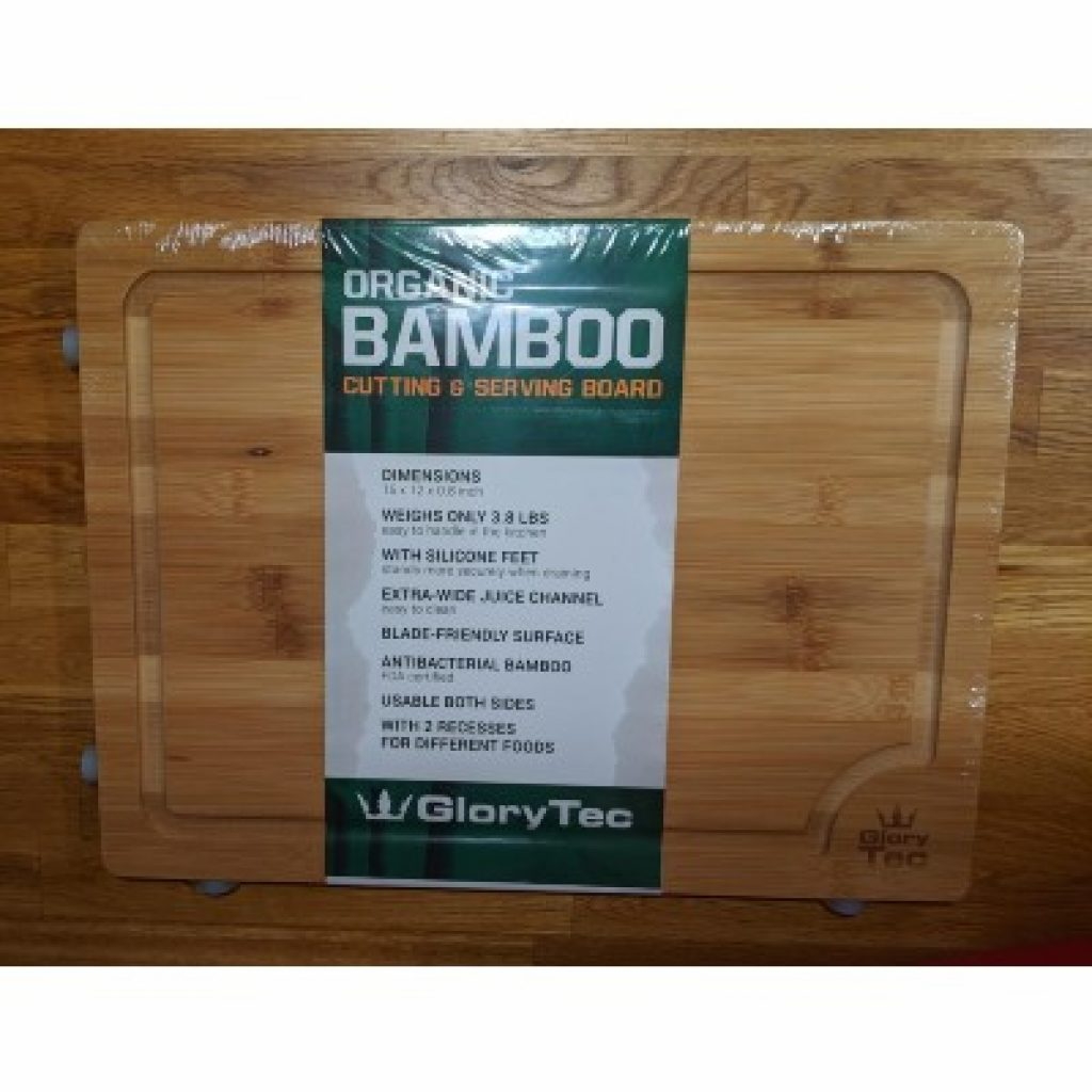 newly bought GloryTec EXTRA LARGE Bamboo Cutting Board