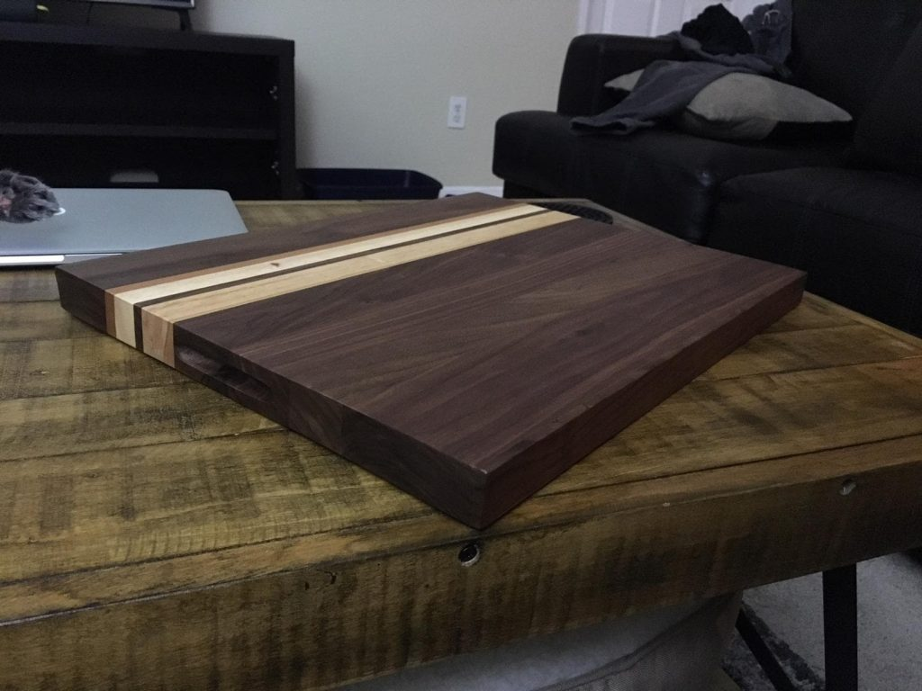 Large Multipurpose American Walnut Wood Cutting Board