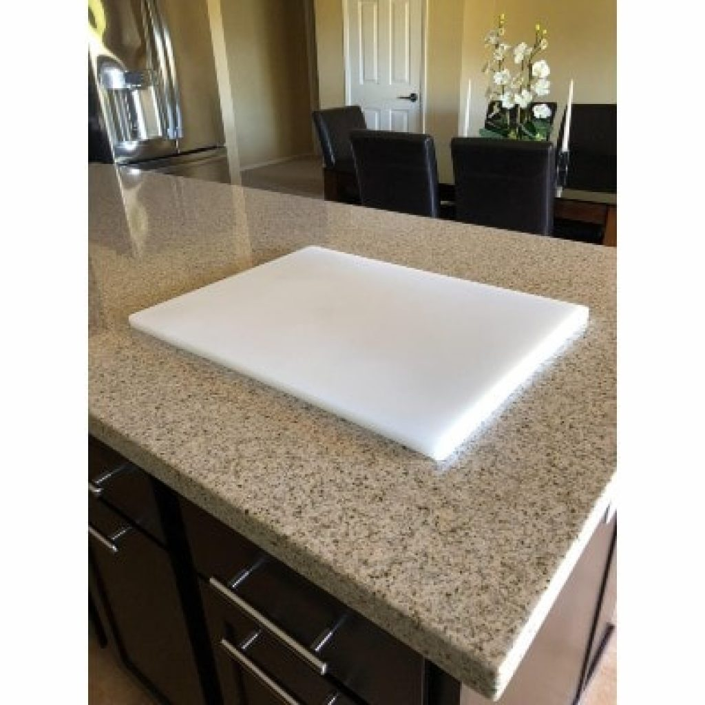 "Plastic Cutting Board 18x30 1/2"" Thick White"