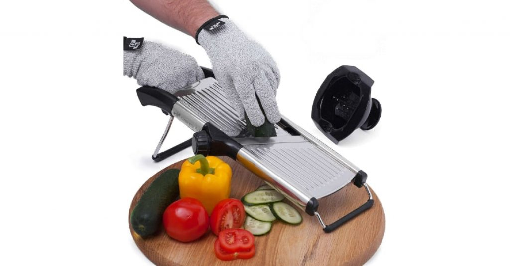 Mandoline Slicer with Cut-Resistant Gloves