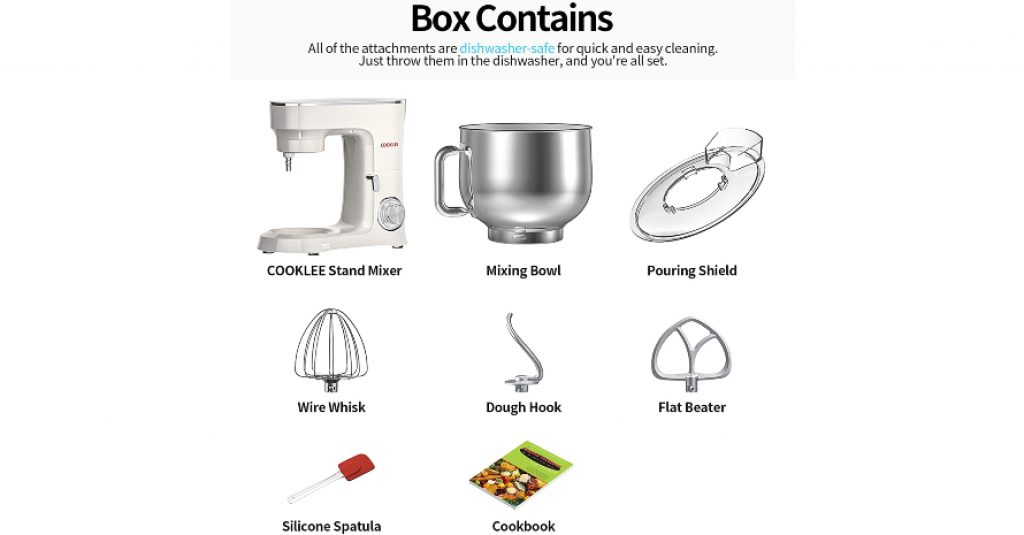 COOKLEE Stand Mixer Box Contains