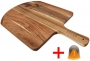 Acacia Wood Pizza Peel with Cutter