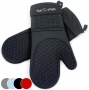 Black Silicone Oven Mitts